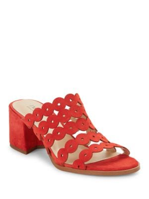 Faye Block Heel Sandals by IMNYC Isaac Mizrahi