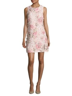 Embellished Floral Sheath Dress by Theia