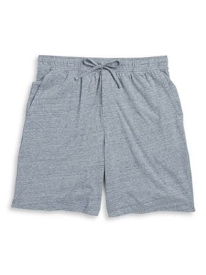 Heathered Knit Shorts by Black Brown