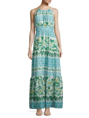 Floral-Texture Tier Dress by Eliza J