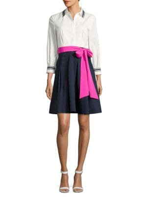 Stripe-Collar Dress by Eliza J