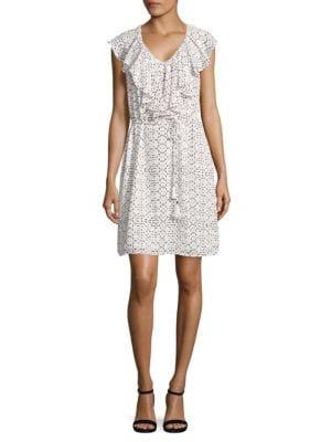 Ruffled Print Dress by Ivanka Trump