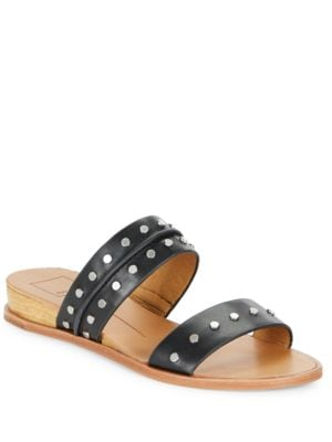 Pacey Leather Slide Sandals by Dolce Vita