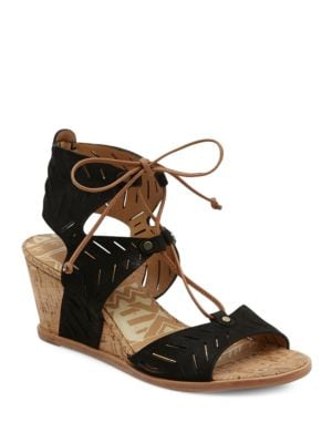 Langly Leather Wedge Sandals by Dolce Vita
