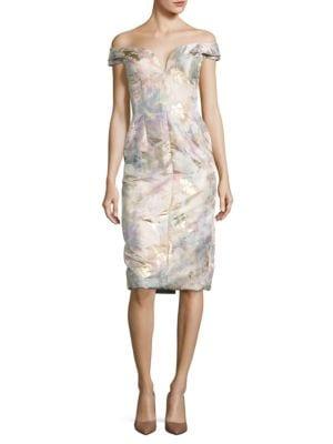 Floral Off-The-Shoulder Dress by BARBARA TFANK INC.
