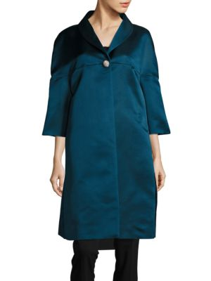 Silk One-Button Coat by BARBARA TFANK INC.
