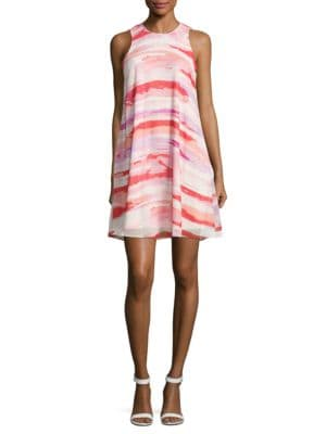 Cloud-Printed Sheath Dress by Calvin Klein