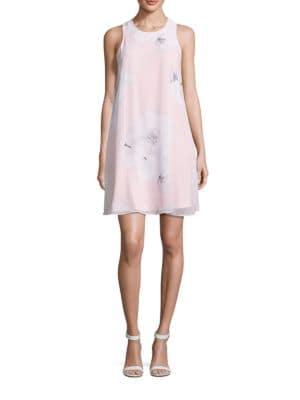 Floral Print Shift Dress by Calvin Klein