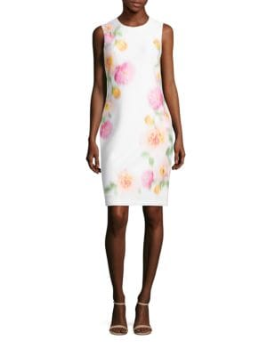 Floral Fade Sheath Dress by Calvin Klein