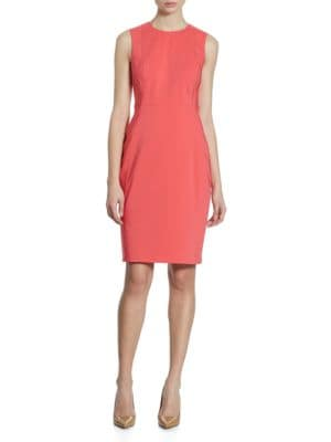 Cotton Sheath Dress by Calvin Klein