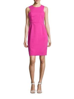 Solid Scuba Sheath Dress by Calvin Klein