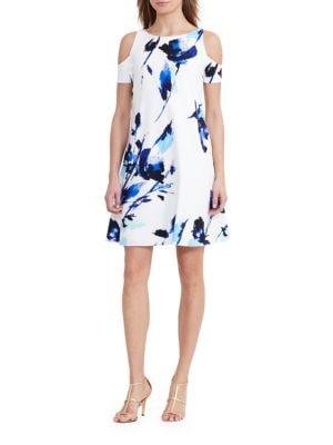 Floral Cold-Shoulder Dress by Lauren Ralph Lauren