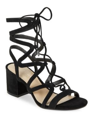 Honey Suede Strappy Sandals by 424 Fifth