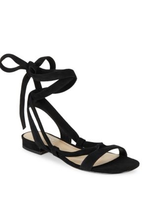 Yasmine Suede Lace-Up Sandals by 424 Fifth