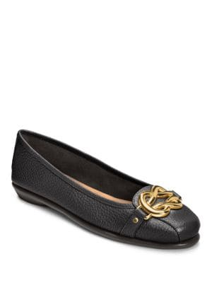 High Bet Leather Ballet Flats by Aerosoles