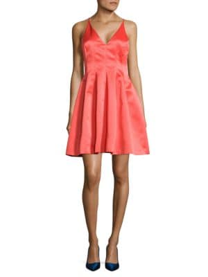 Nikki Plunging V-Neck Dress by Belle Badgley Mischka