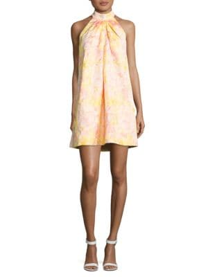 Nola Printed Sleeveless Dress by Belle Badgley Mischka