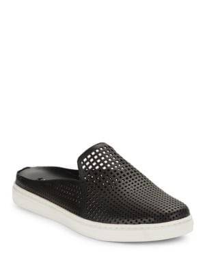 Buy Rina2 Leather Cutout Slide Sneakers by Via Spiga online