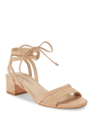 Taryn Suede Lace-Up Sandals by Via Spiga