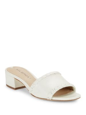 Gwendolyn Leather Slide Sandals by Via Spiga