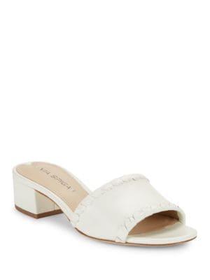 Gwendolyn Leather Slide Sandals by Via Spiga