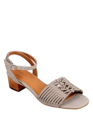 Bahamas Cutout Leather Sandals by Corso Como