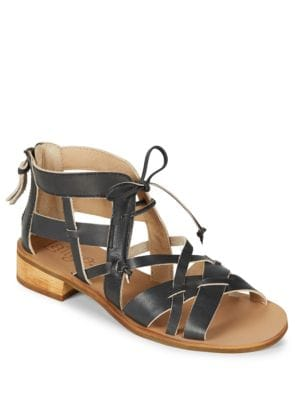 Ramona Lace-Up Leather Sandals by Latigo