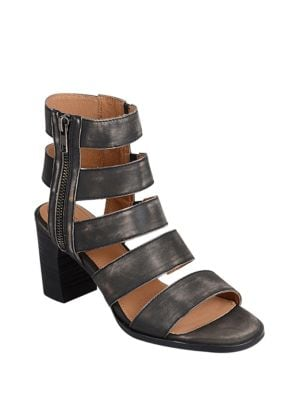 Elise Block Heel Caged Sandal by Corso Como