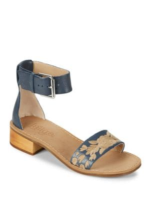 Tana Embroidered Leather Sandals by Latigo