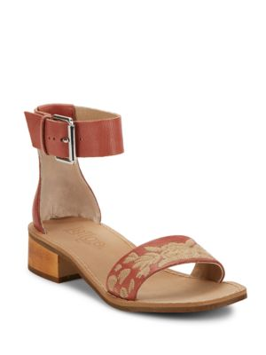 Embroidered Leather Open-Toe Sandals by Latigo