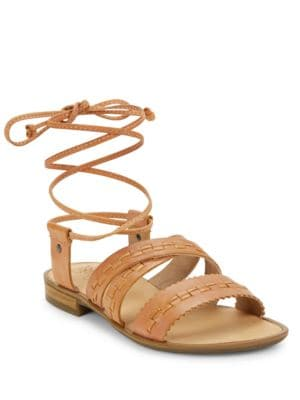Gem Leather Lace-Up Sandals by Latigo