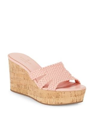 Taravela Leather Wedge Sandals by Kate Spade New York