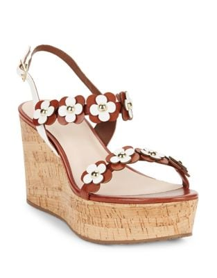 Tisdale Leather Platform Wedge Sandals by Kate Spade New York