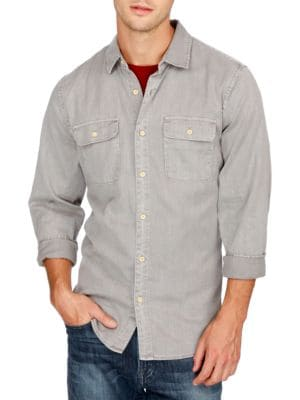 Long Sleeve Button-Front Shirt by Lucky Brand