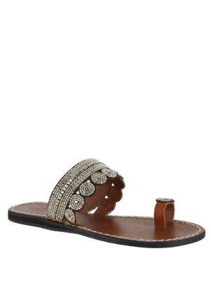 Athens Leather Toe Ring Sandals by Mia
