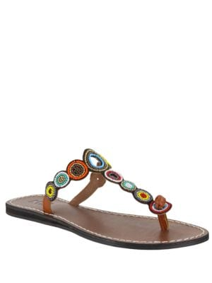 Apache Leather Slide Sandals by Mia