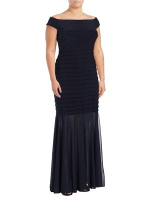 Off-The-Shoulder Layered Dress by Xscape