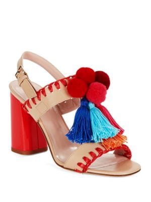 Buy Central Fringe and Pom Heels by Kate Spade New York online