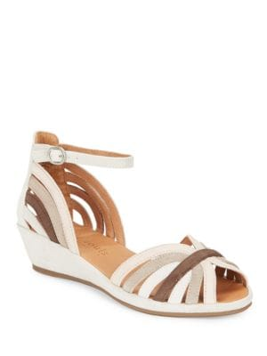 Leah Leather Wedge Sandals by Gentle Souls