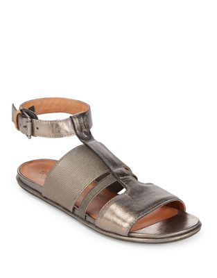 Ophelia Pewter Flat Sandals by Gentle Souls
