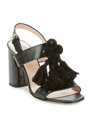 Central Leather Block Heel Sandals by Kate Spade New York