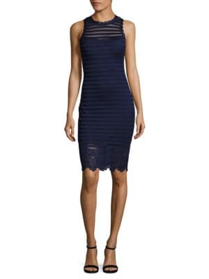 Scalloped-Lace Bodycon Dress by Guess