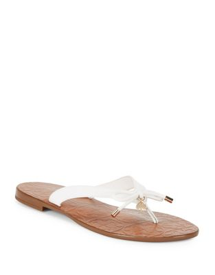 Charles Leather Thong Sandals by Kate Spade New York