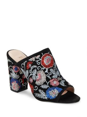 Buy Margaux Floral High Heel Mules by Avec Les Filles online