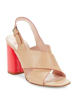 Christopher Leather Block Heel Sandals by Kate Spade New York