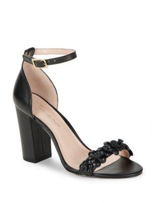 Michele Floral Leather Sandals by Avec Les Filles