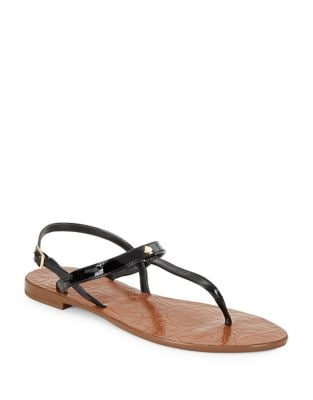 Citrine Leather Thong Sandals by Kate Spade New York