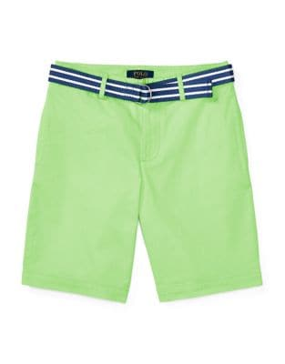 Solid Cotton-Blend Shorts...