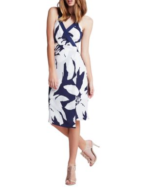 Faux Surplice Floral Column Dress by BCBGeneration