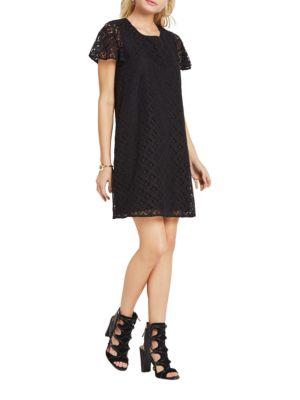 Eyelash-Lace Overlay Dress by BCBGeneration